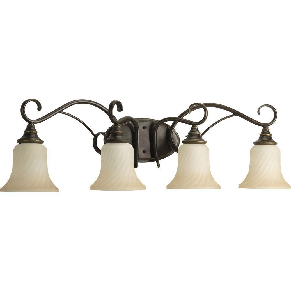 Kensington Collection Forged Bronze 4-light Vanity Fixture