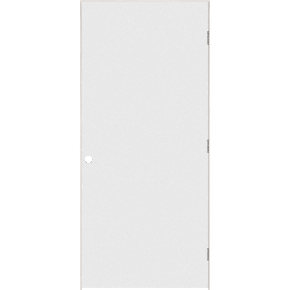 36-inch x 80-inch Primed Hardboard Smooth Right Hand Pre-hung Interior Door