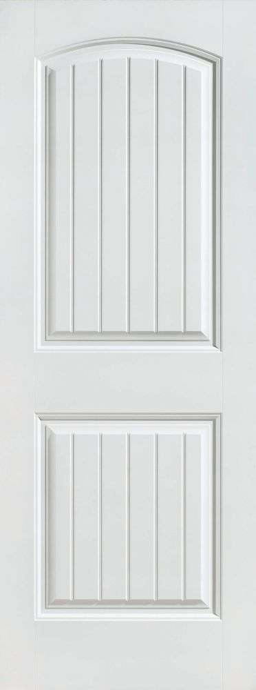 36-inch x 80-inch Primed 2 Panel Plank Smooth Interior Door Slab