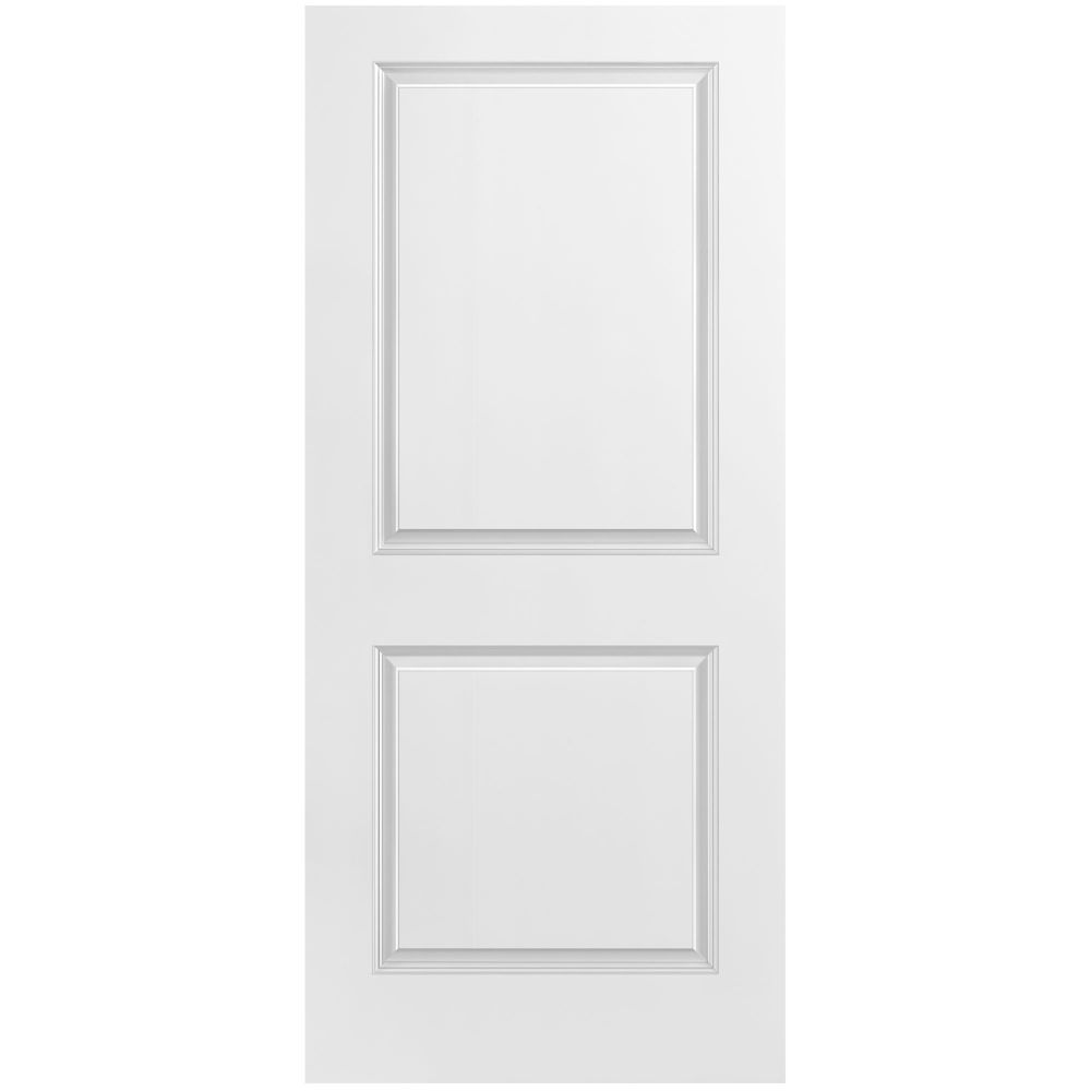 Masonite Primed 2 Panel Smooth Interior Door Slab 36 In X
