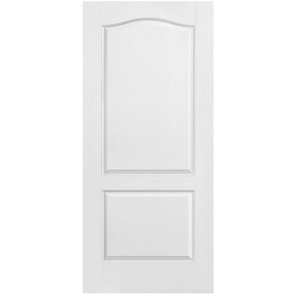 36-inch x 80-inch Primed 2-Panel Arch Top Textured Interior Door Slab