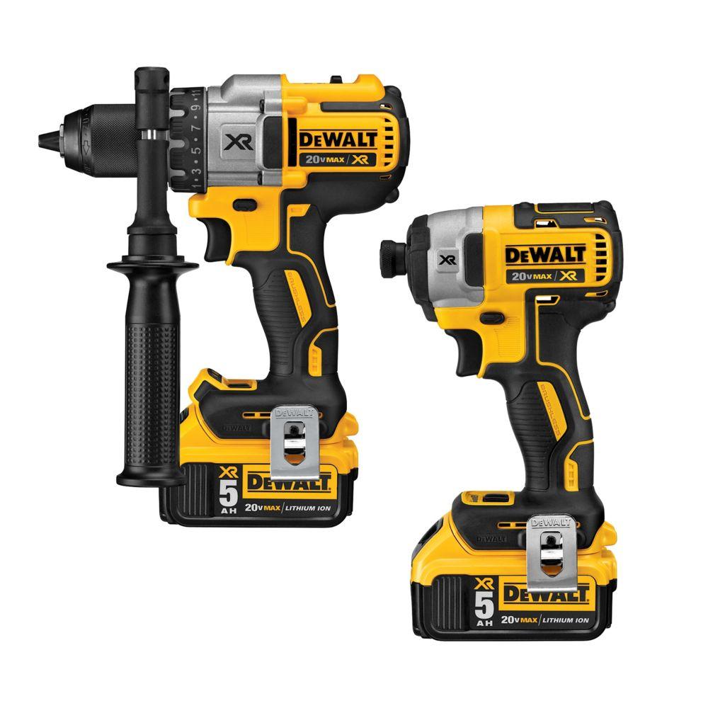 DEWALT 20V Cordless MAX Li-Ion Hammer Drill/Impact Driver Combo Kit