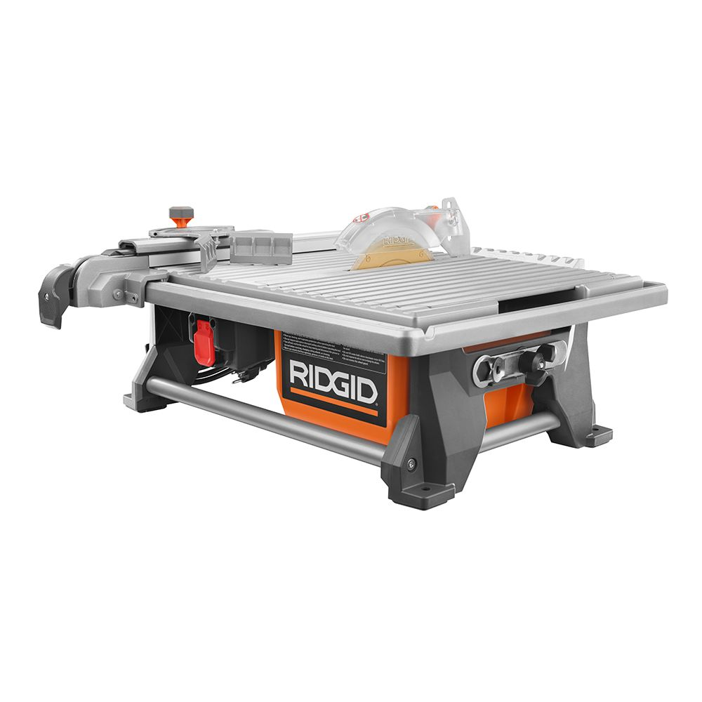 Ridgid 120v 7 Inch Table Top Wet Tile Saw The Home Depot Canada