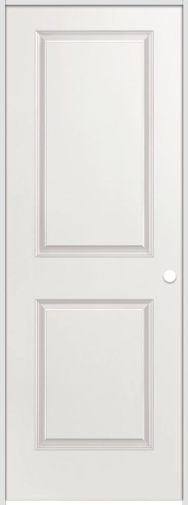 La porte intérieure prémontée 2 panneaux lisse avec rabbeted jamb  28 pouces x 80 pouces ouvertur...