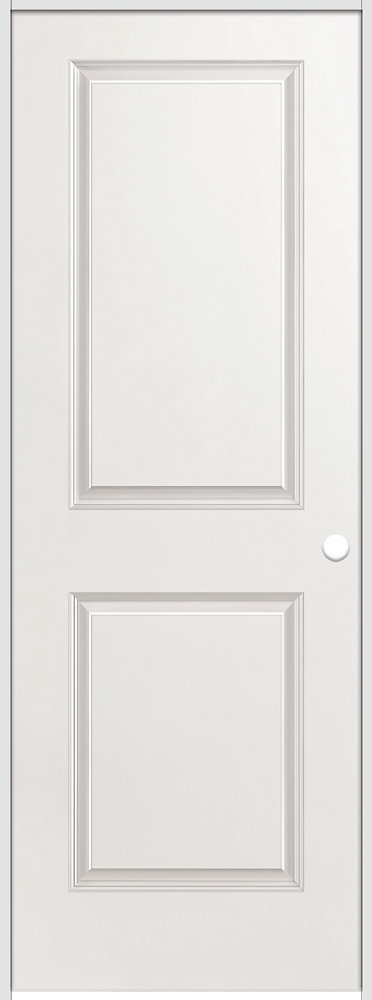 30-inch x 80-inch Lefthand Primed 2-Panel Smooth Prehung Interior Door with Rabbeted Jamb