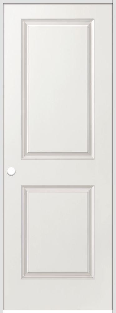 La porte intérieure prémontée 2 panneaux lisse avec rabbeted jamb  30 pouces x 80 pouces ouvertur...