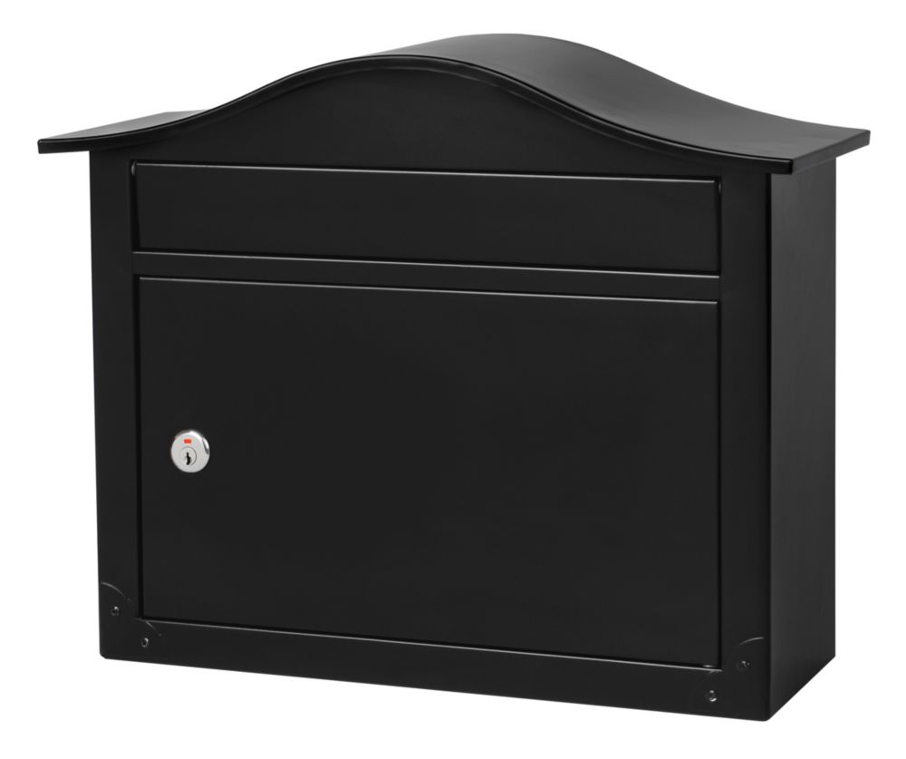 Saratoga Locking Wall Mount Mailbox Black