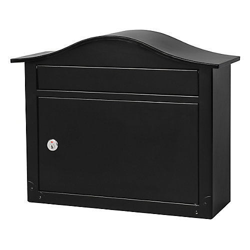 Saratoga Locking Wall Mount Mailbox in Black