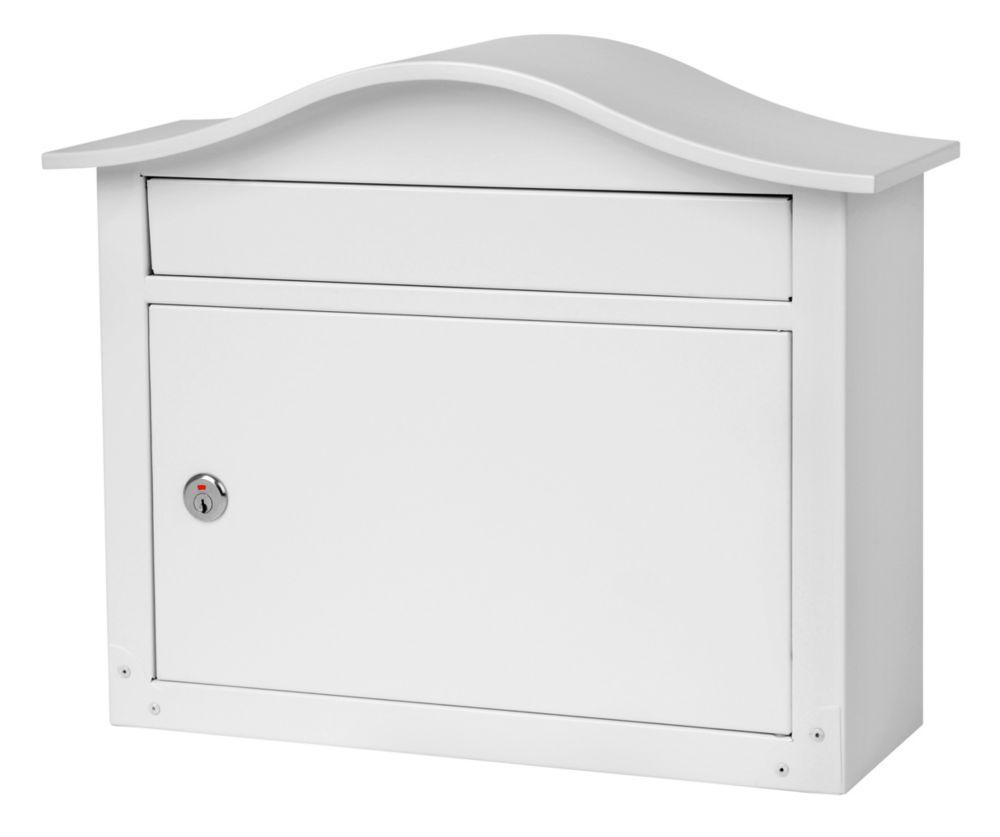 Saratoga Locking Wall Mount Mailbox White