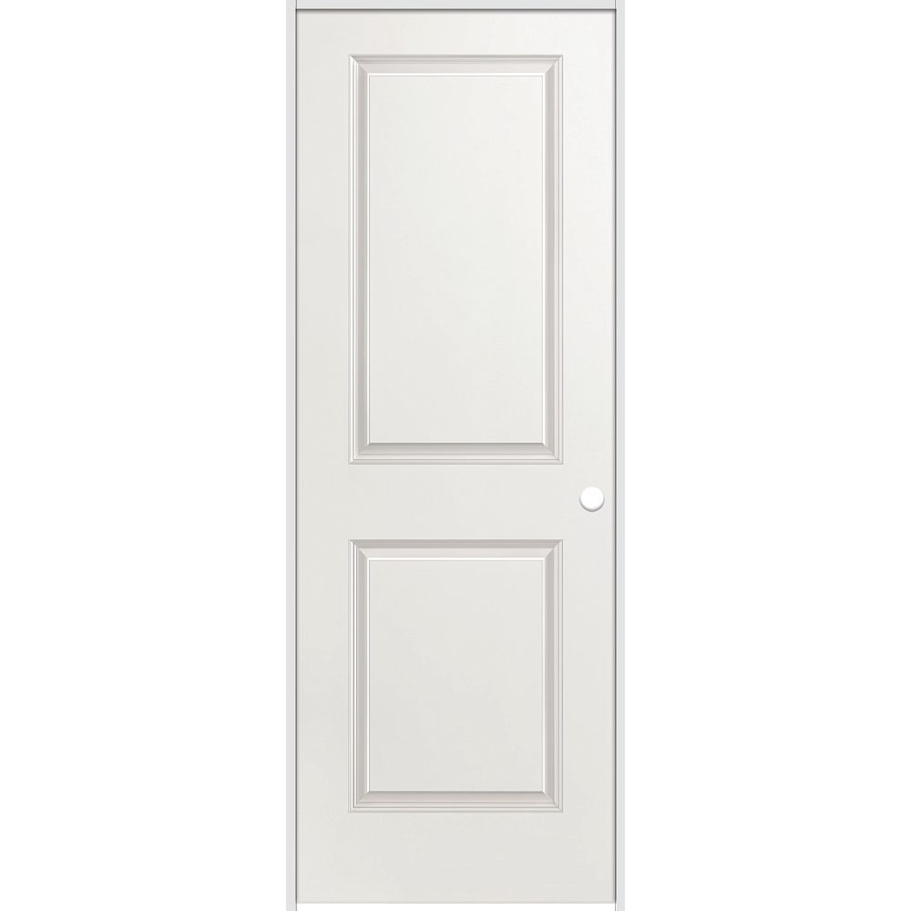 Masonite 36-inch x 80-inch Lefthand Primed 2-Panel Smooth Prehung Interior Door