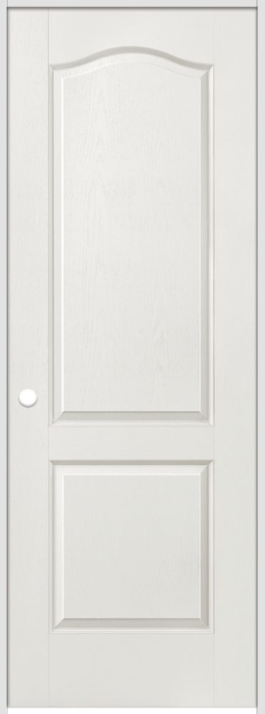 36-inch x 80-inch Righthand Primed 2-Panel Arch Top Textured Prehung Interior Door