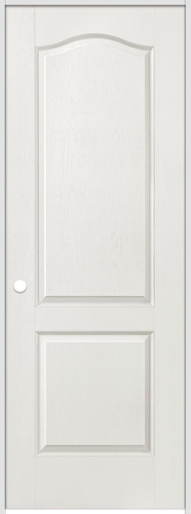 Porte intérieure prémontée 2 panneaux arché texturé 36 pouces x 80 pouces ouverture droite