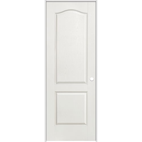 Masonite 36-inch x 80-inch Lefthand Primed 2-Panel Arch Top Textured Prehung Interior Door