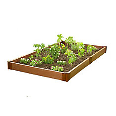 Tool-Free Classic Sienna Raised Garden Bed 4 ft. x 8 ft. x 5.5 inch  2 inch profile