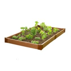 Frame It All Tool-Free Classic Sienna Raised Garden Bed 4 ft. x 8 ft. x 5.5 inch  2 inch profile