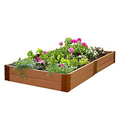 Classic Sienna Raised Garden Bed 4 ft. x 8 ft. x 11 inch 2 inch profile