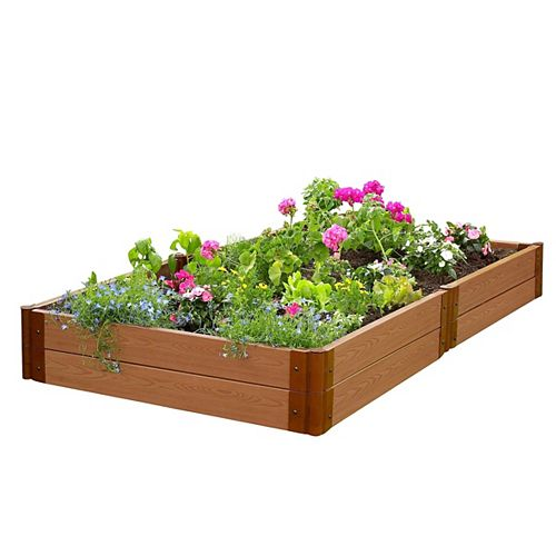 Frame It All Tool-Free Classic Sienna Raised Garden Bed 4 ft. x 8 ft. x 11 inch  2 inch profile