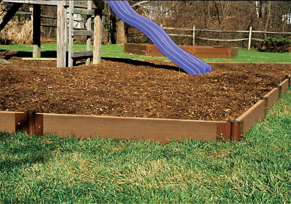 Frame It All 64 ft. x 5 1/2-inch x 2-inch Composite Wood Playground Border Kit