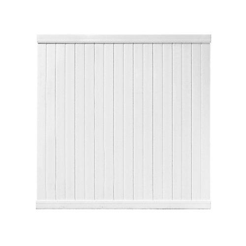 Panneau de clôture pré-assemblée - Vinyle 72 pouces x 72 pouces (blanc)