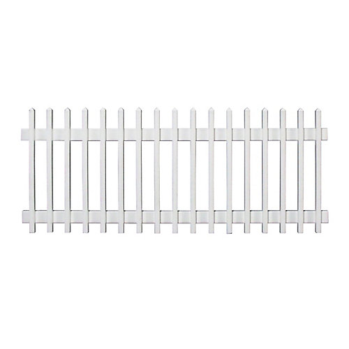 96 Inch x 36 Inch Pre-Assembled Vinyl Picket Fence Section (white)
