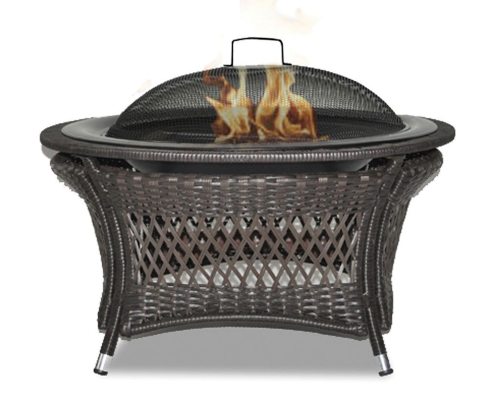 Rio 32-inch Patented Wicker Gel Fuel Outdoor Fire Pit