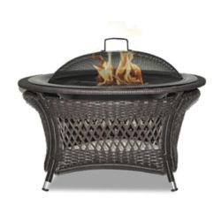 Paramount Rio 32-inch Patented Wicker Gel Fuel Outdoor Fire Pit