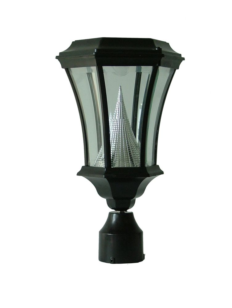 "Victorian solar lamp, 3"" fitter mount, black GS-94FB Canada Discount"