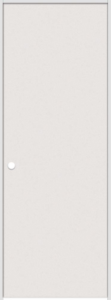 24-inch x 80-inch Primed Hardboard Smooth Right Hand Pre-hung Interior Door with Rabbeted Jamb