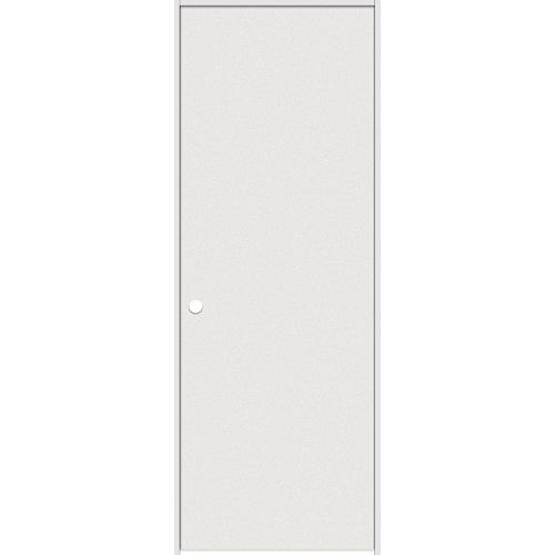Masonite 24-inch x 80-inch Primed Hardboard Smooth Right Hand Pre-hung Interior Door with Rabbeted Jamb