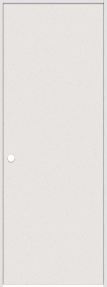 24-inch x 80-inch Primed Hardboard Smooth Right Hand Pre-hung Interior Door