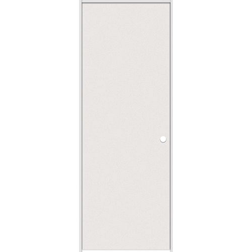 Masonite 28-inch x 80-inch Primed Hardboard Smooth Left Hand Pre-hung Interior Door