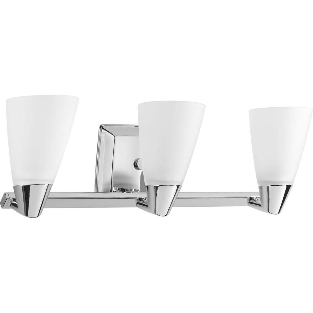 Rizu Collection Polished Chrome 3-light Vanity Fixture