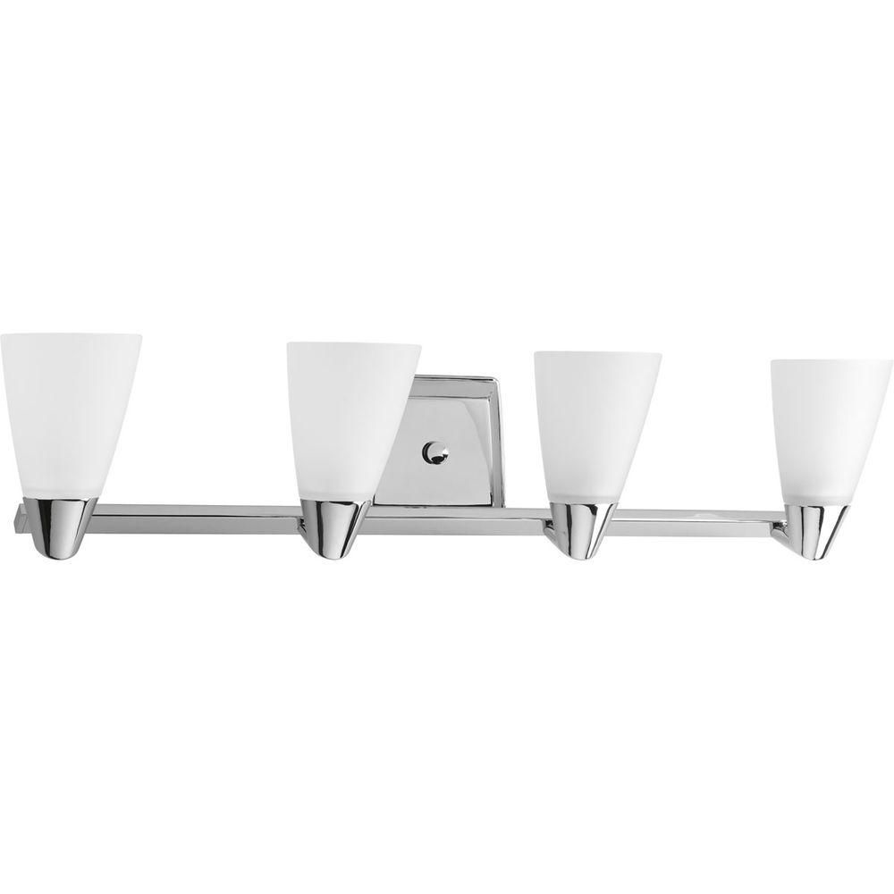 Rizu Collection Polished Chrome 4-light Vanity Fixture