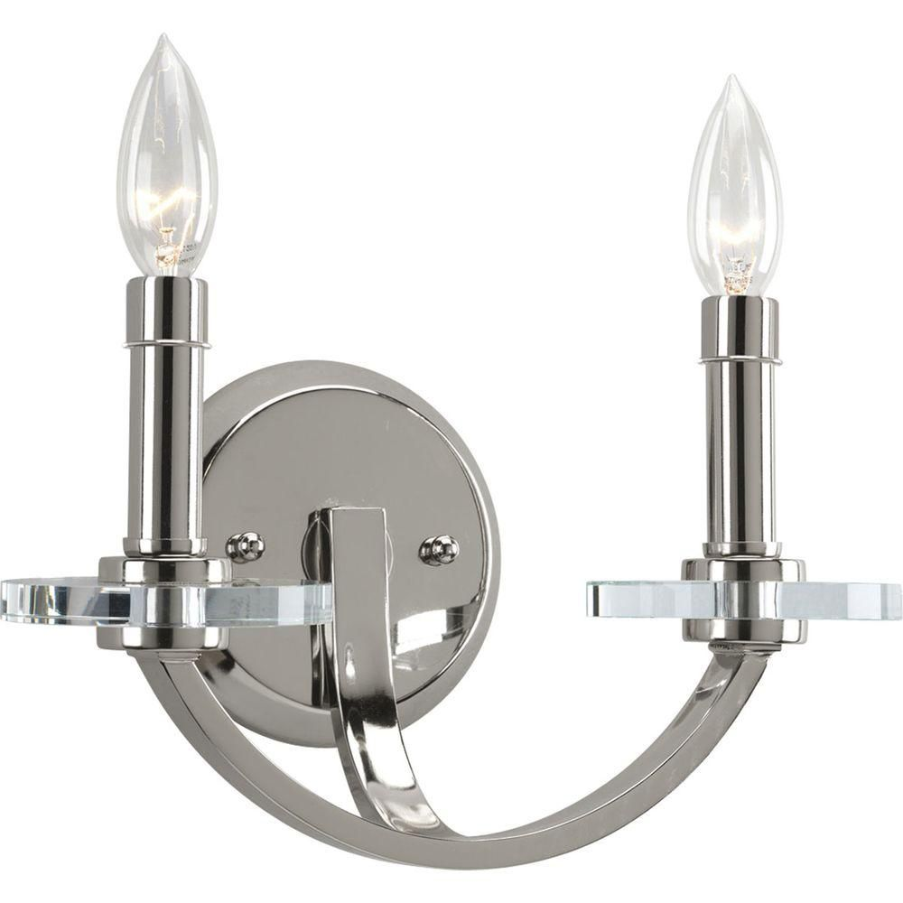 Nisse Collection Polished Nickel 2-light Wall Bracket