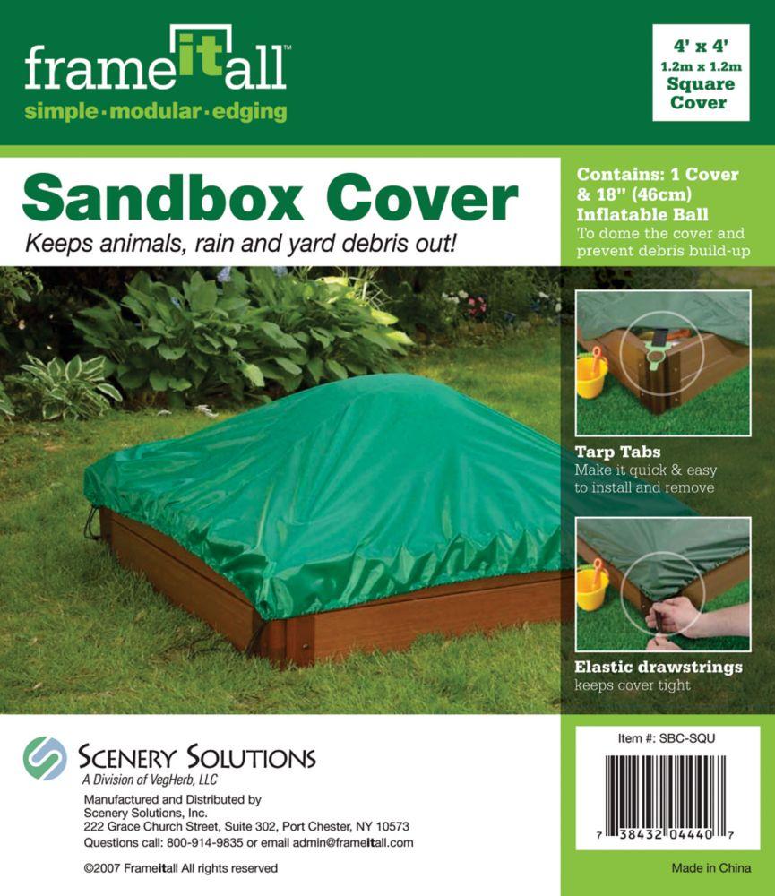 Square Sandbox Cover - 4 Feet x 4 Feet