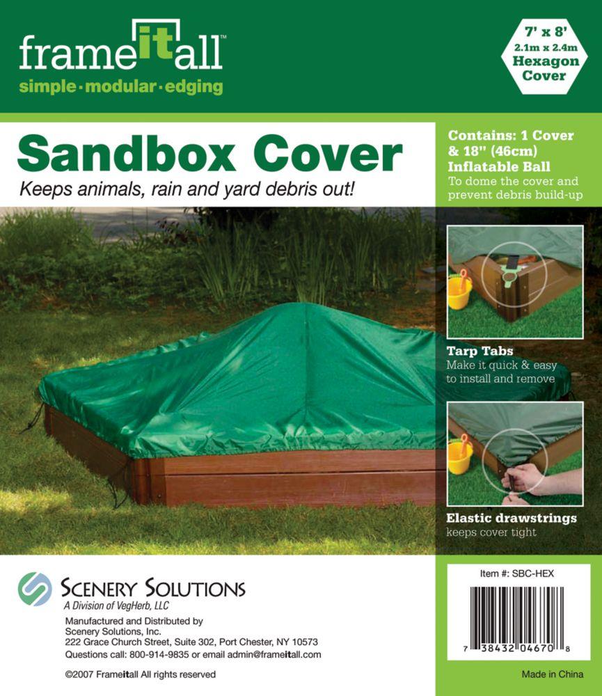 Housse pour bac à sable Couverture hexagonale - 7 pi x 8 pi