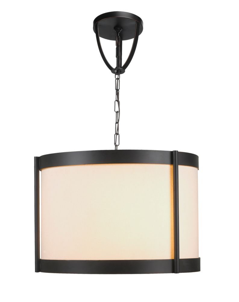 Edmonton Collection 3-Light Euro Bronze Chandelier