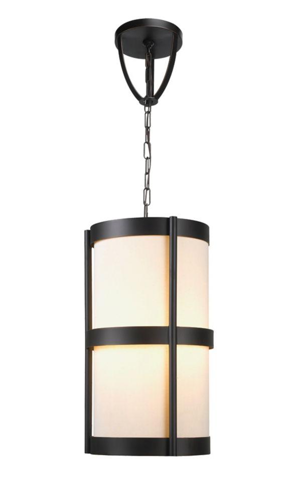 Suspensions à quatre lampes au fini bronze Euro de la Collection Edmonton