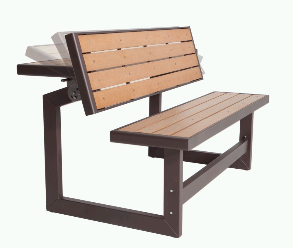 Lifetime outdoor convertible bench the home depot canada Home depot benches