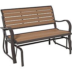 Wood Alternative Outdoor Glider Bench