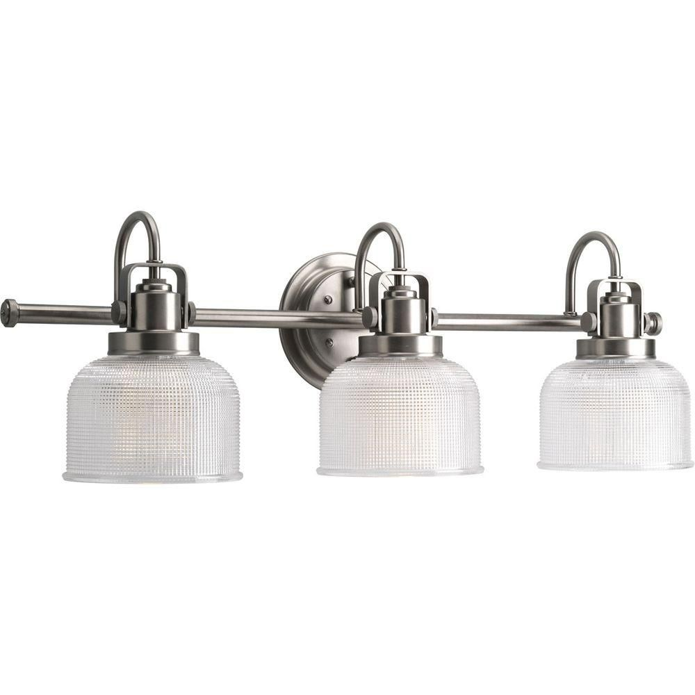 Archie Collection Antique Nickel 3-light Vanity Fixture