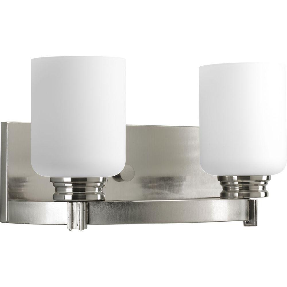 Orbit Collection Brushed Nickel 2-light Vanity Fixture