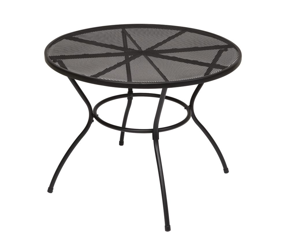 Burlingame 36 Inch Steel Mesh Dining Table - Black FTS80190C Canada Discount