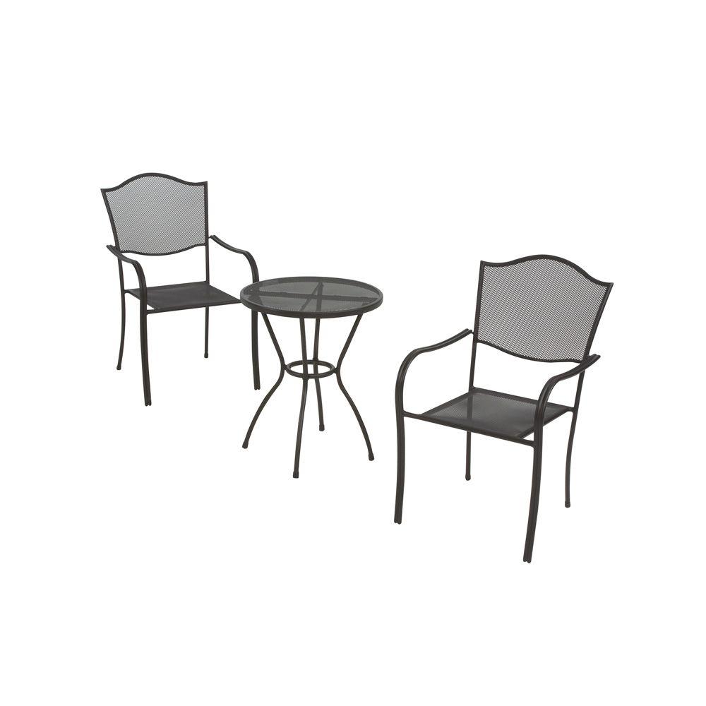 Burlingame Steel Mesh Outdoor Stacking Chair