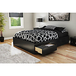 Majestic Full Mate's Bed in Pure Black