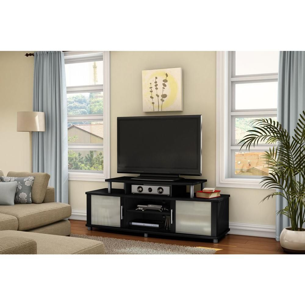 South Shore City Life TV Stand Pure Black