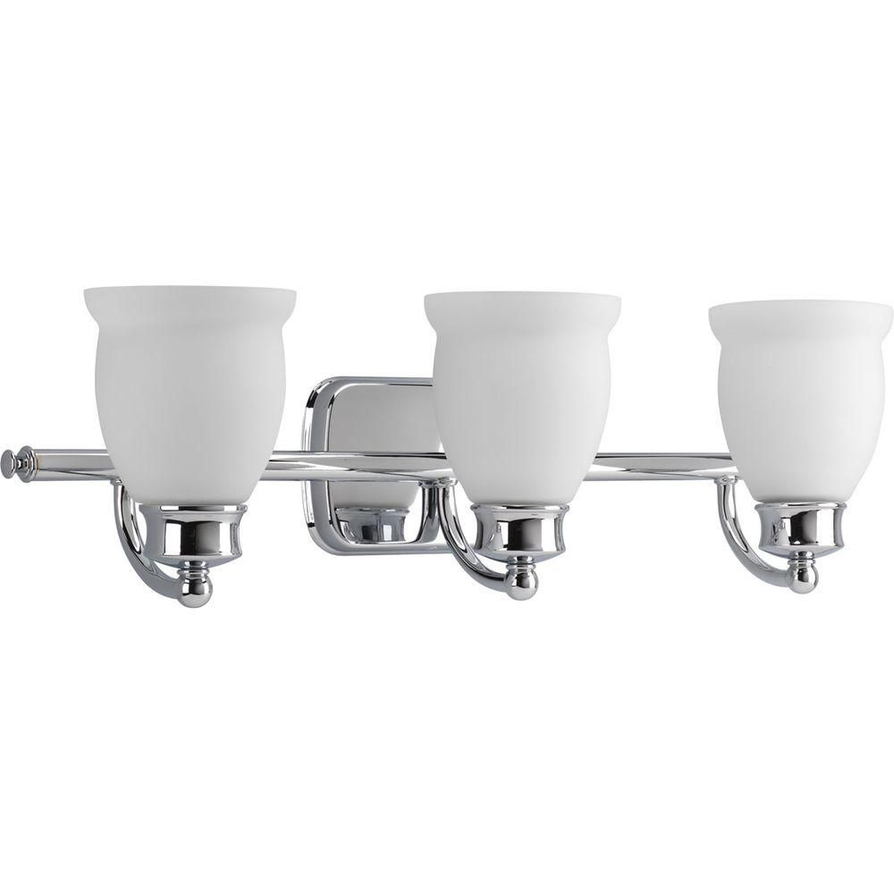 Leeland Collection Polished Chrome 3-light Vanity Fixture