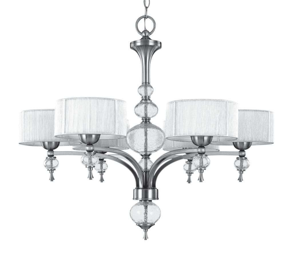world imports lustre six lampes au fini nickel bross de la collection bayonne home depot canada. Black Bedroom Furniture Sets. Home Design Ideas
