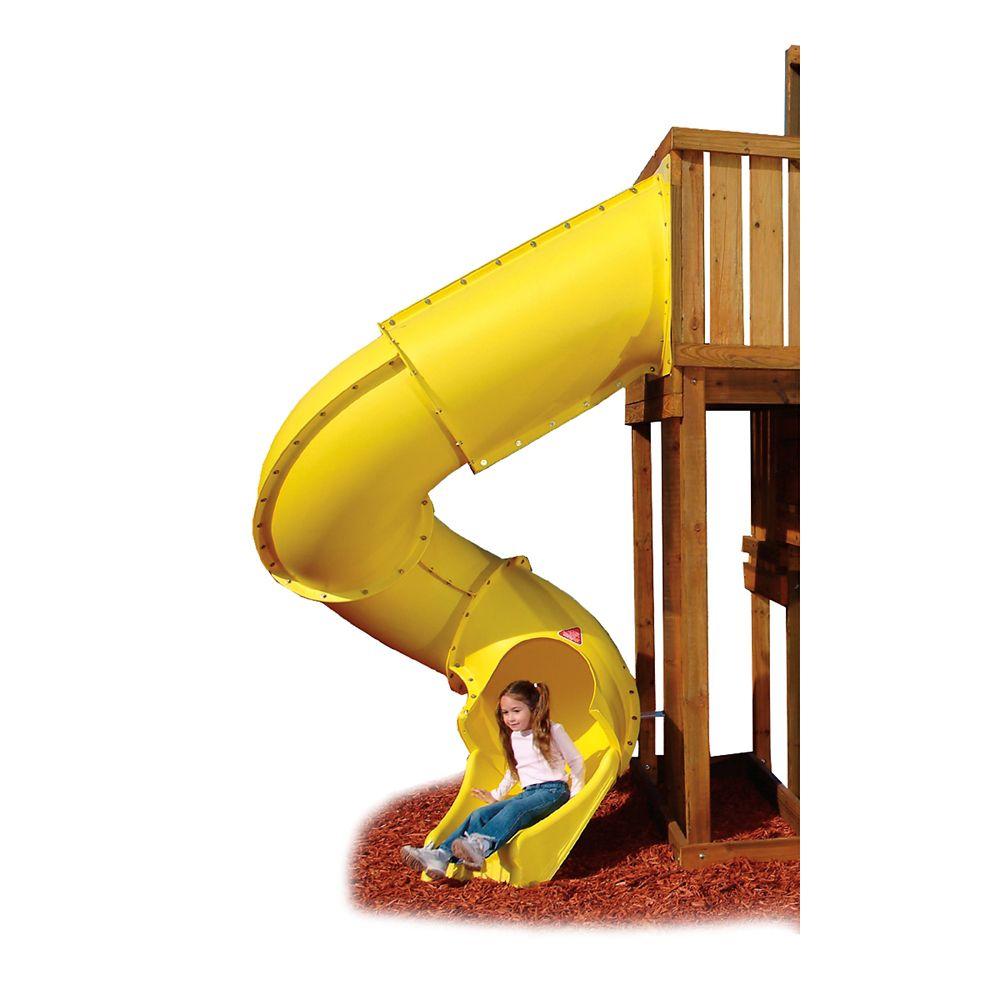 7 ft. Turbo Tube Slide in Yellow