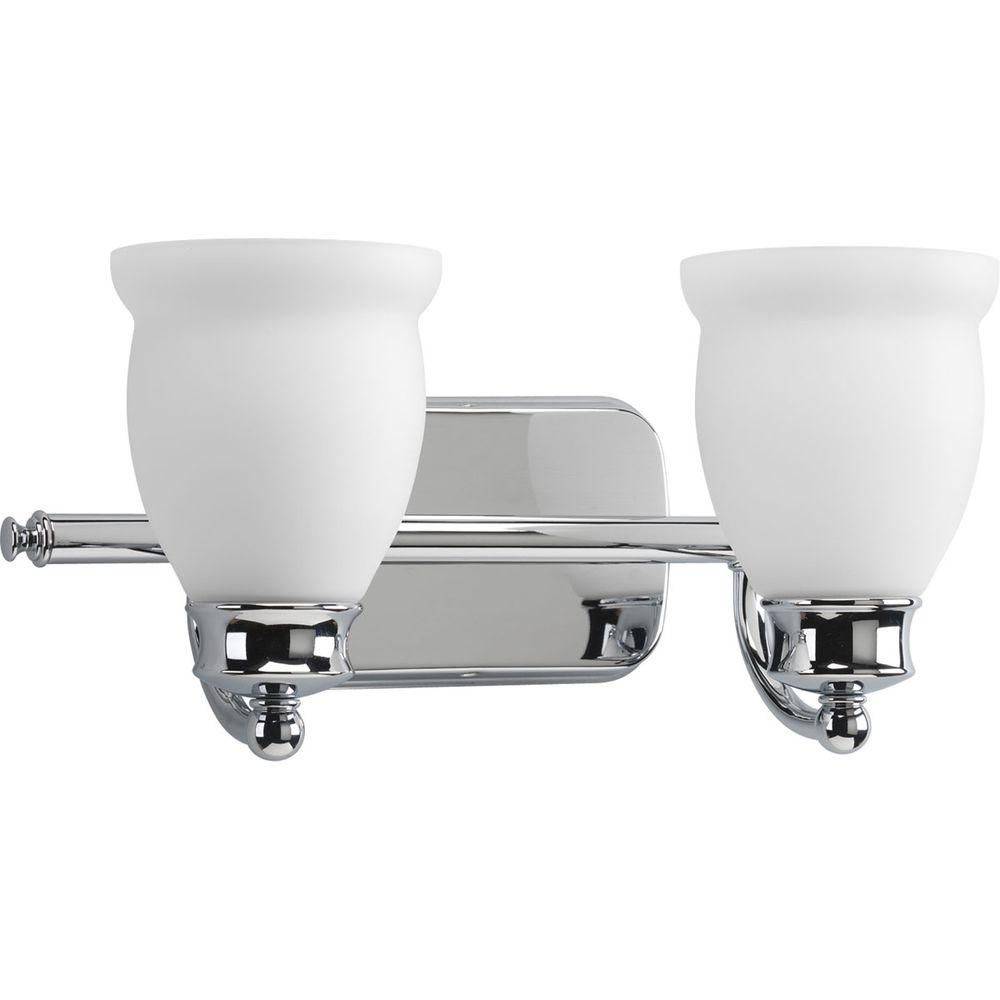 Leeland Collection Polished Chrome 2-light Vanity Fixture